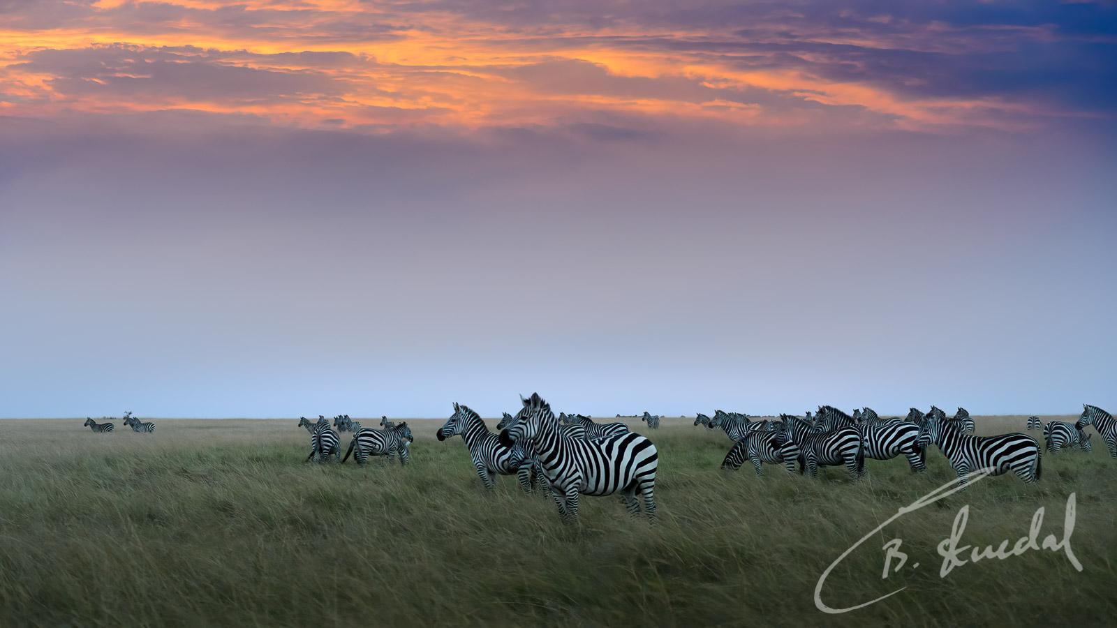 Striped sunset